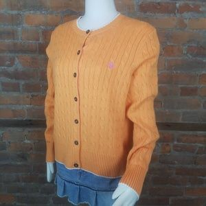 Brooks Brothers 346 Women's Orange Cable Knit